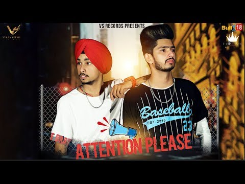 Attention Please (Official Video) | Sunny | Latest Punjabi Song 2018 | VS Records