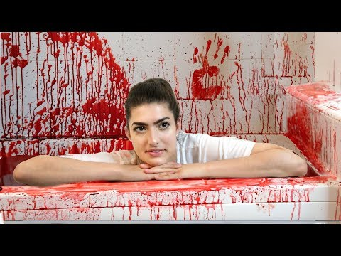 Thumbnail: 50 Gallons Of Fake Blood in Bathtub! (Halloween Bath Challenge)