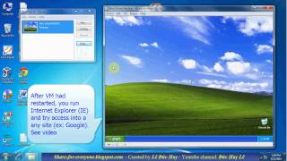 How to connect internet for virtual machine Virtual PC