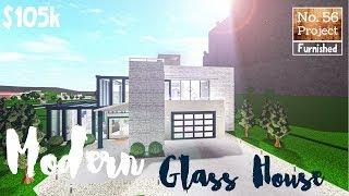 Bloxburg Build || Modern Glass House | Roblox (No Large Plot)