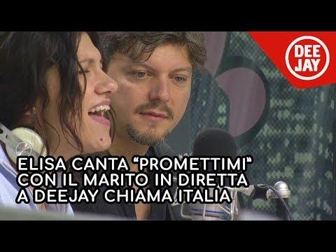 Elisa canta 'Promettimi' con il marito in diretta a Radio Deejay