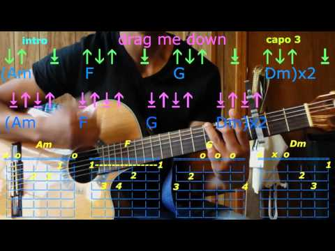 drag me down one direction guitar chords