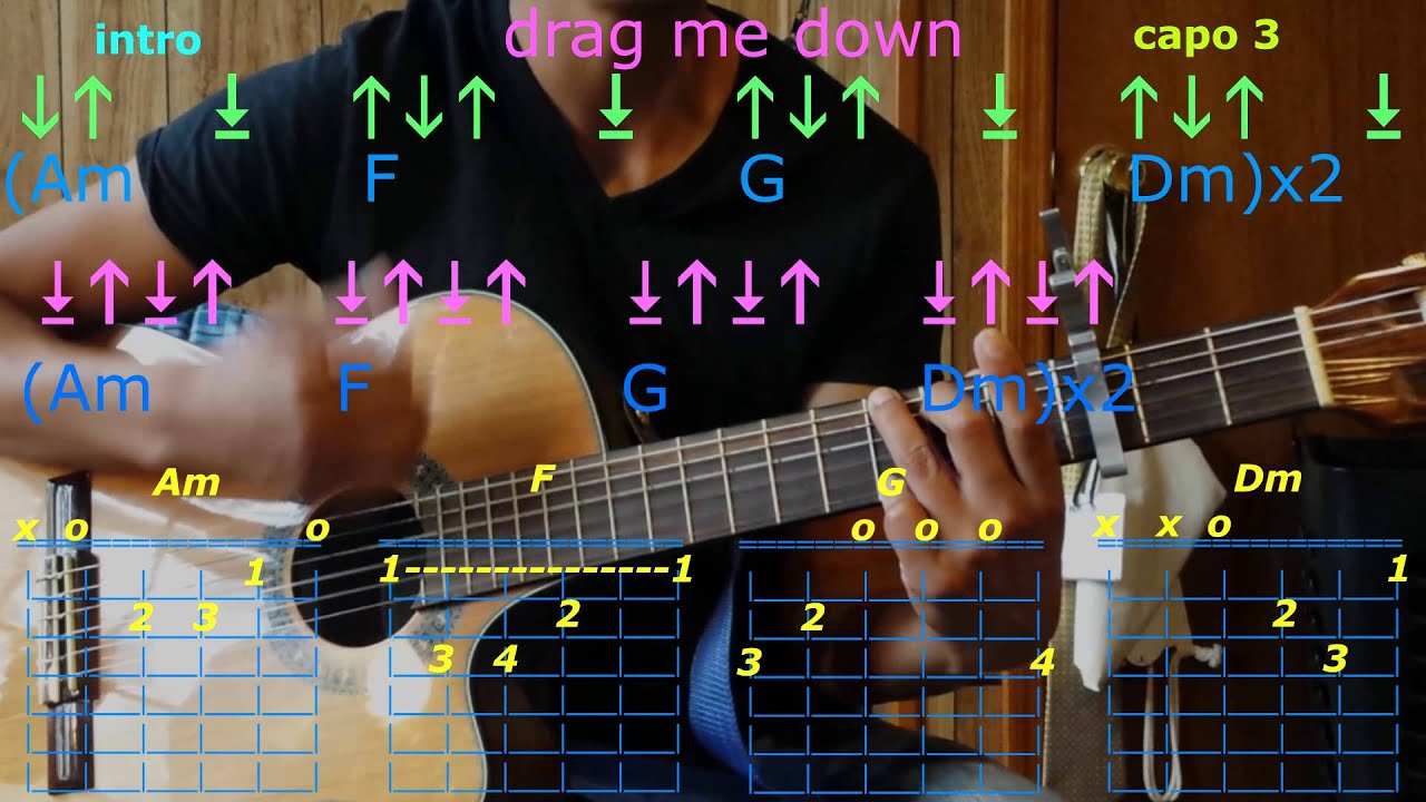 Drag Me Down One Direction Guitar Chords Youtube