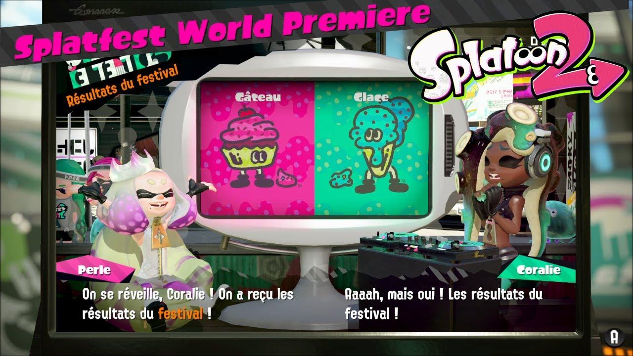 Splatfest World Première Les Résultats Gâteau Ou Glace Splatoon2