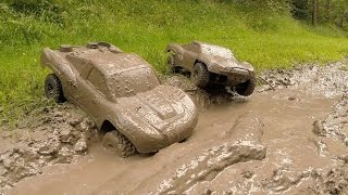 Repeat youtube video Traxxas Slash 4x4s KillerBodyRC Mud Bogging!