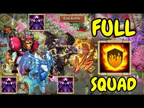 Wicked Armor Beasts VS Flame Guard Squad L Castle Clash
