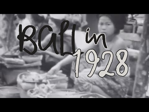 BALI OLD FILM   1928 DOCUMENTARY