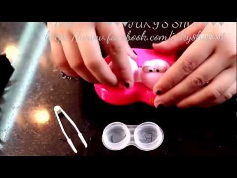 Cách đeo & tháo lens [Mắt Búp Bê]♥♥♥