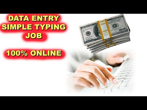 Online Data Entry Job - Work at Home