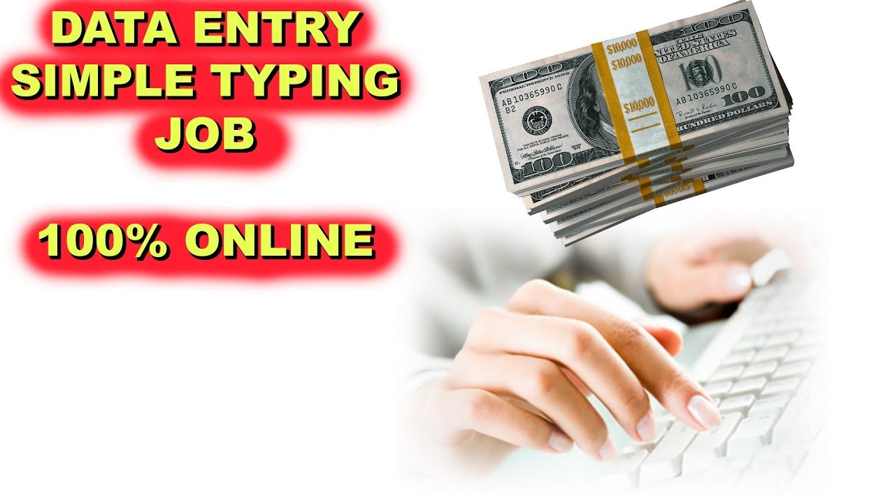 Online Data Entry Job - Work at Home - YouTube