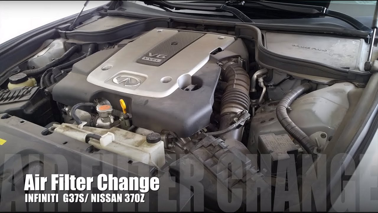 INFINITI G37s Air Filter Replacet - YouTube