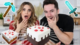 MINECRAFT CAKE DIY ft CaptainSparklez! - NERDY NUMMIES