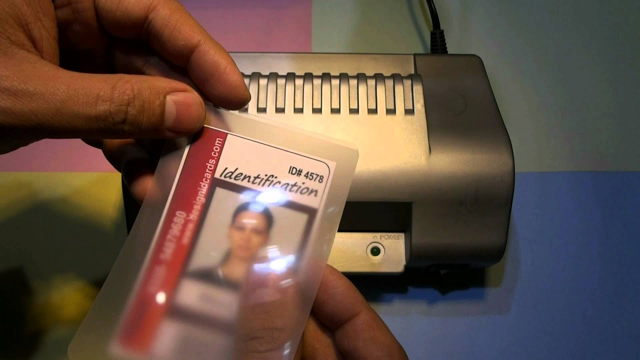 How to Laminate your ID cards designed using DRPU ID card designer ...