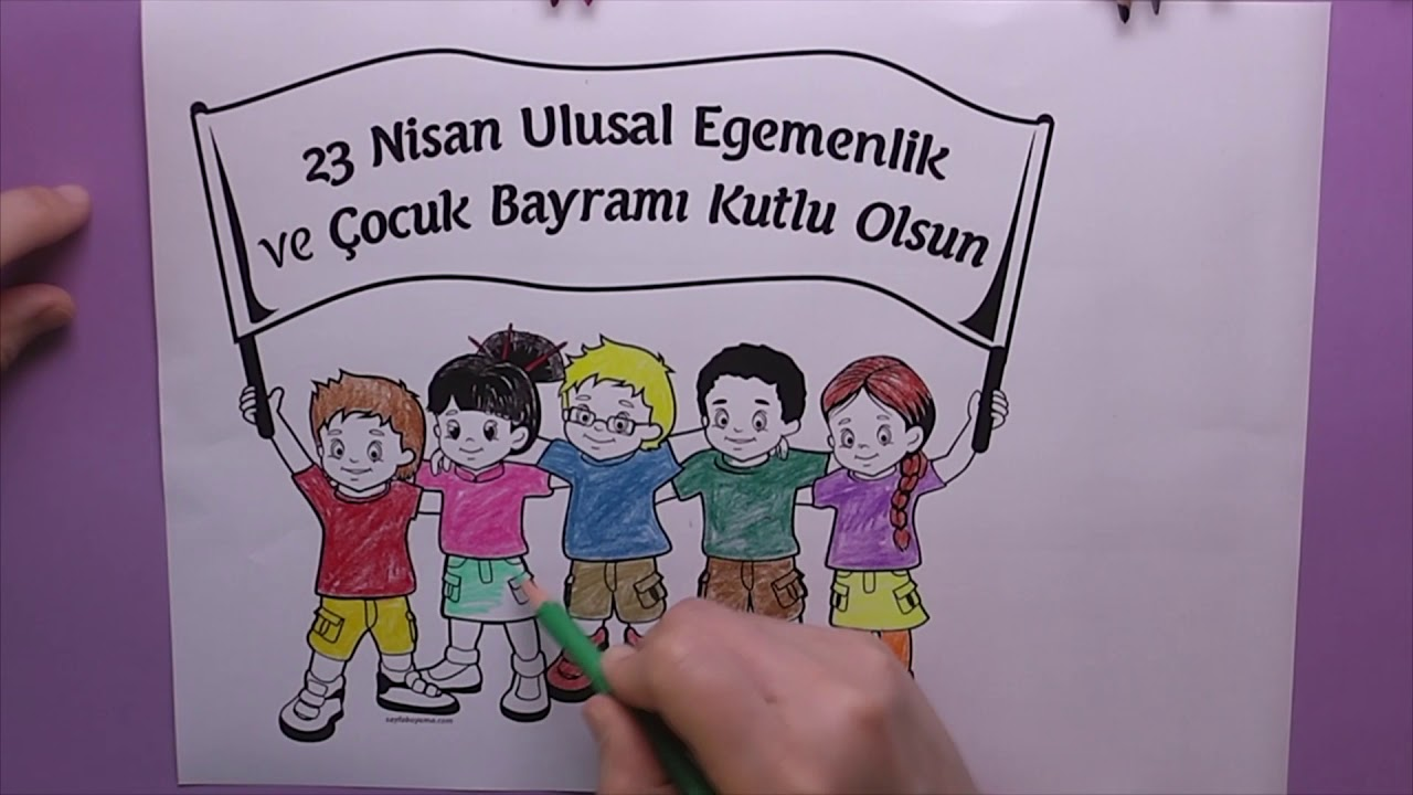 23 Nisan Boyama Coloring National Sovereignty And Childrens Day