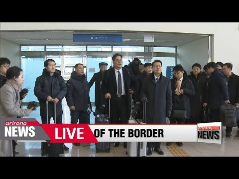 [LIVE/ARIRANG NEWS] South Korean inspection team touring North Korean ski resort, nearby airport