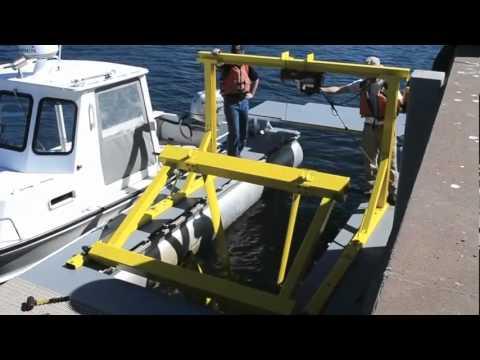 UNH Hydrokinetic Turbine 35ft Test Platform - Tidal Energy