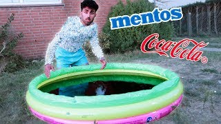 COLA vs MENTOS POOL CHALLENGE !!!