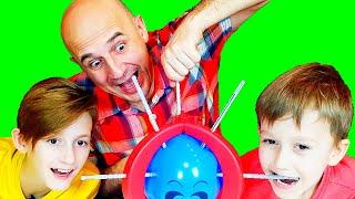 Не лопни шарик челлендж. Папа с детьми лопают воздушные шарики в игре Boom Balloon на MaVl Family