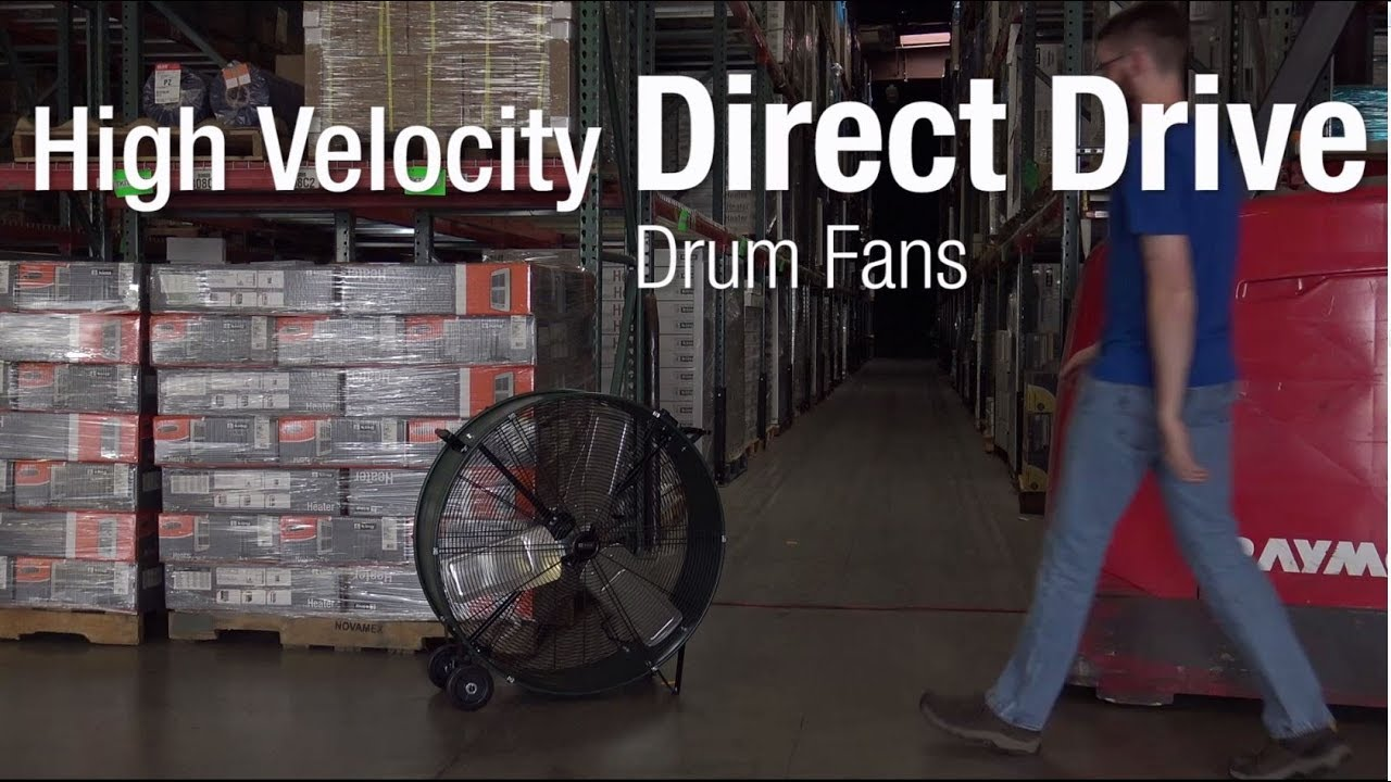 King Electric High Velocity Drum Fan, 36D