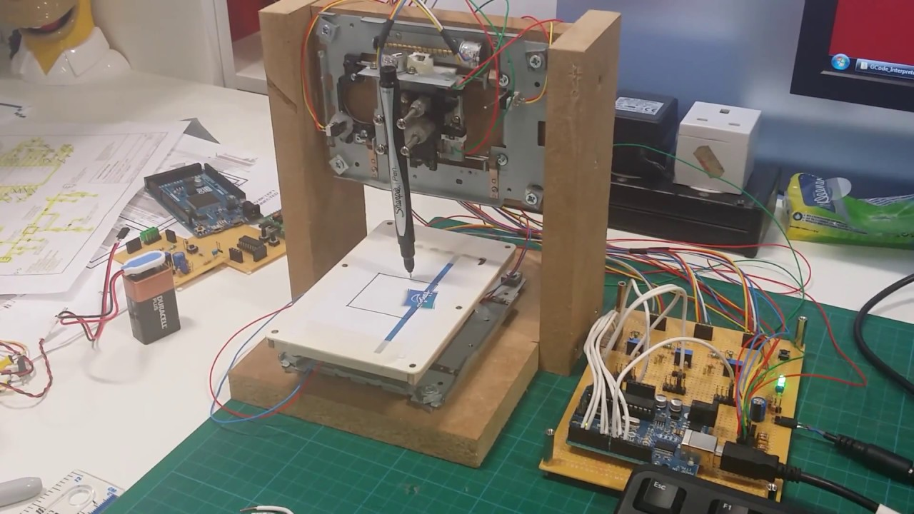 Cd dvd drive cnc with arduino youtube