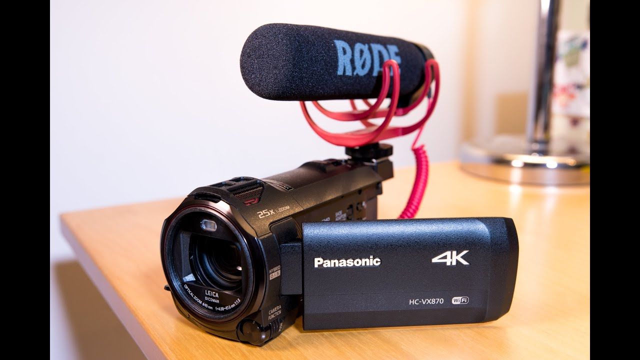 my affordable youtube 4k video camera panasonic hc vx870 unboxing overview youtube. Black Bedroom Furniture Sets. Home Design Ideas