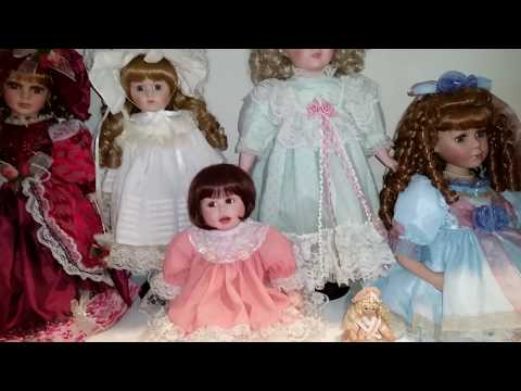 PORCELAIN DOLL COLLECTION STARTED IN THE 80s