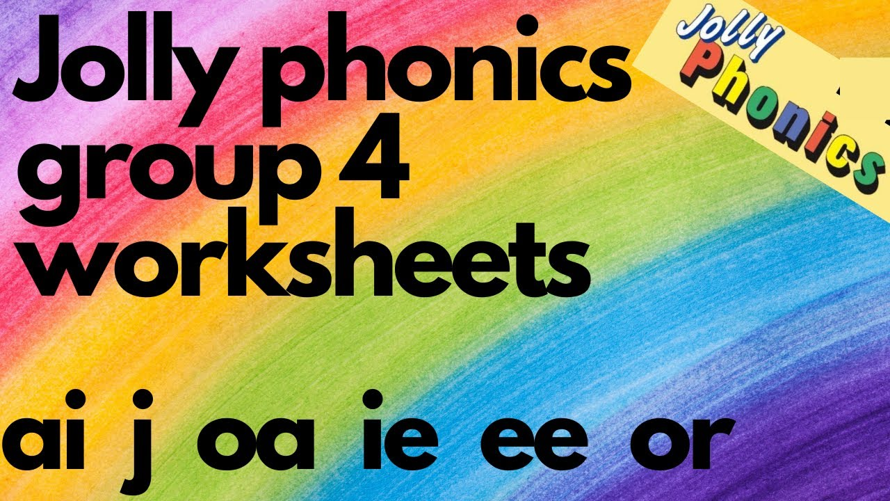 Jolly Phonics Phase 1 Group 4 Digital Worksheet Lkg Ukg Toddlers Ai Oa J Or Ie Ee Words Youtube