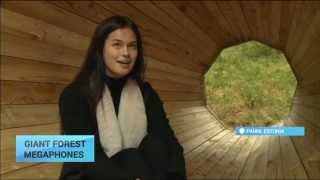 Giant Forest Megaphones: Estonians get back to nature inside giant wood megaphones