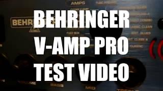 BEHRINGER V-AMP PRO TEST VIDEO
