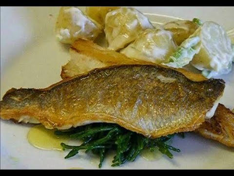 how to fillet sea bass and cook it in real time sea bass
