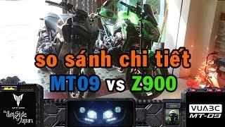 Review#2 MT-09 vs Z900: xe nào ngon hơn, so sánh chi tiết đến từng con ốc (phần 1)