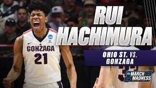 Gonzaga\'s Rui Hachimura scores 25 points in the Bulldogs Second Round victory