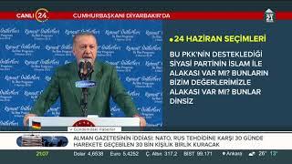 Cumhurbaşkanı Erdoğan Diyarbakır'daki iftar programında konuştu (3 Haziran 2018)