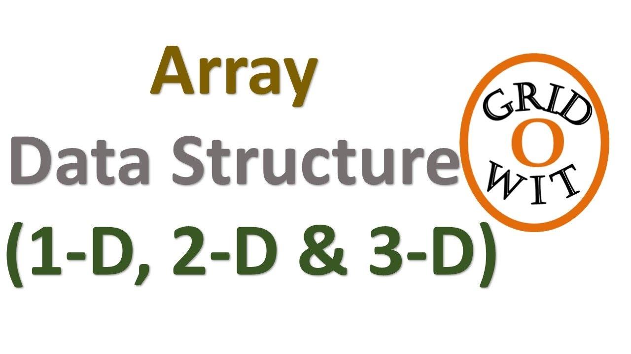 Array Data Structure (1D 2D & 3D Array) || Gridowit - YouTube