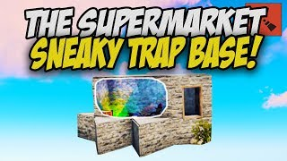 BUILDING my FIRST TRAP BASE! - Rust Solo Survival Gameplay
