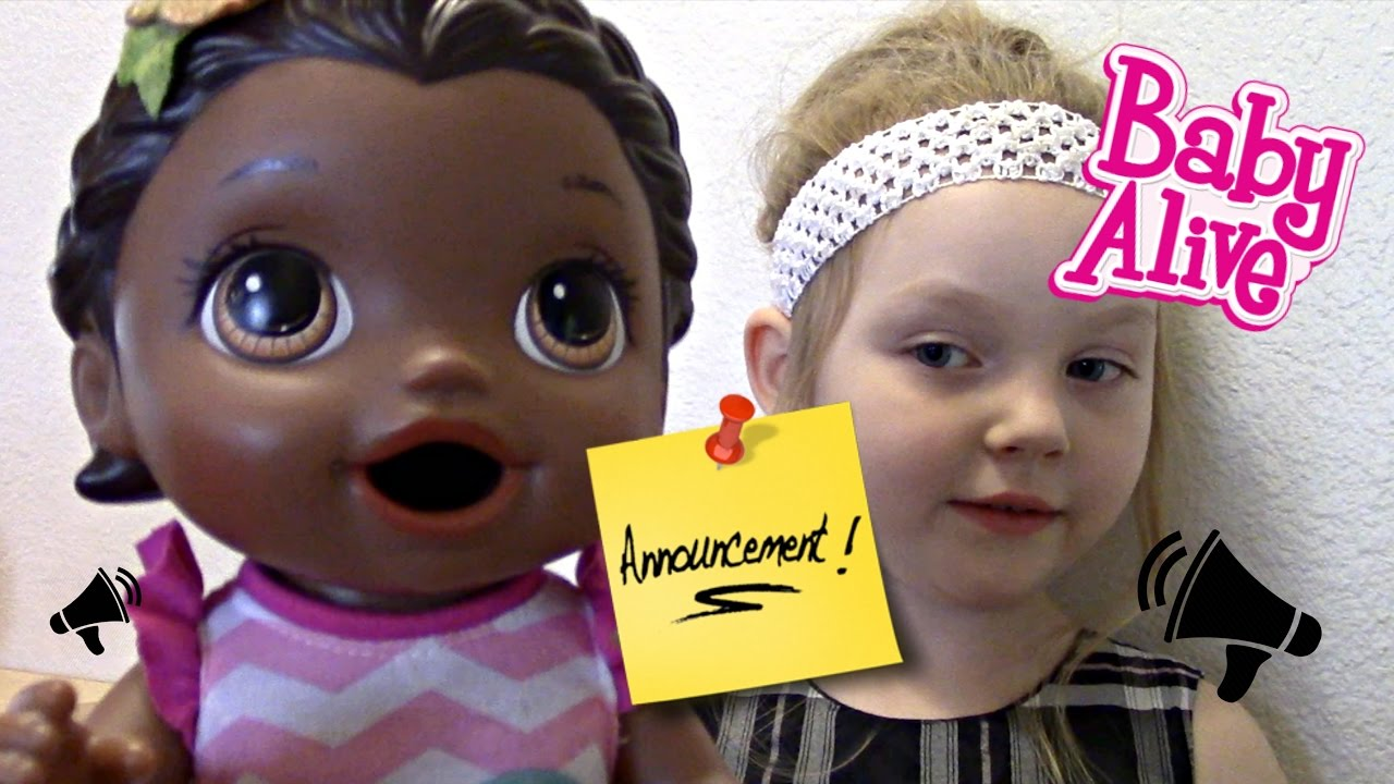 Baby Alive Makes An Announcement The Lilly And Mommy Show