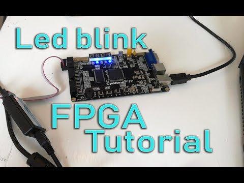 FPGA Blinking Led Tutorial Step By Step [ Altera ]