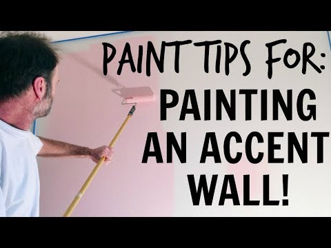 PAINTING AN ACCENT WALL ♡ Paint Tips! ♡ Studio & Office Makeover Series ♡ EP. 3