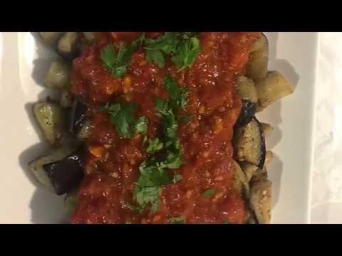 recette-turque-/aubergines-et-sa-sauce-tomate-maison