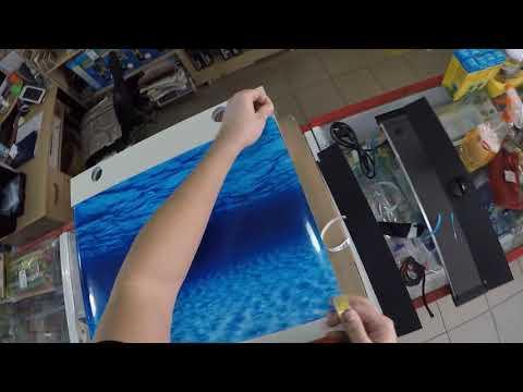 Как наклеить фон на аквариум