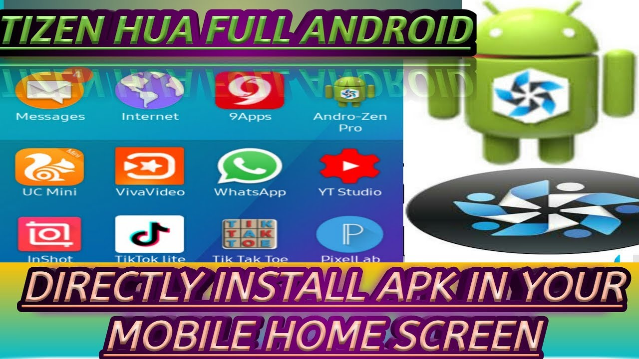 How To Install Androzen Pro In Tizen Phone z1,z2,z3,z4 install your apk  directly my home screen