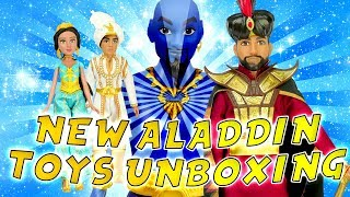 Disney Aladdin Movie New Toys Unboxing! W/ Jasmine, Aladdin, Genie & More Toys