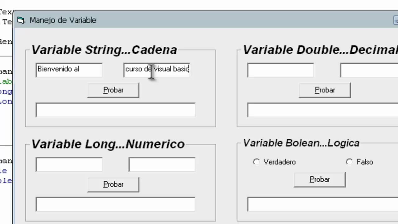 how to find the variable in visual basic