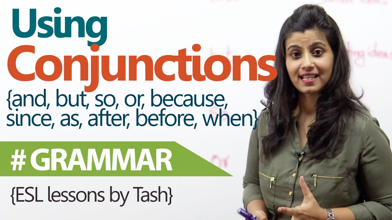 English Grammar lesson - Using Conjunctions correctly in sentences ( free  English Lessons) - YouTube [ 720 x 1280 Pixel ]
