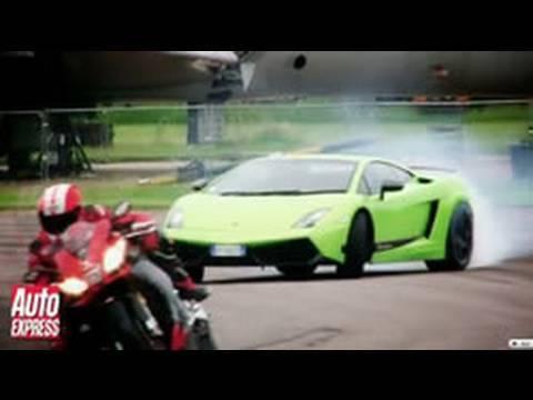 Lamborghini LP570-4 Superleggera vs Aprilia RSV4 Superbike - Auto Express