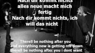 nach dir kommt nichts w/german and english lyrics