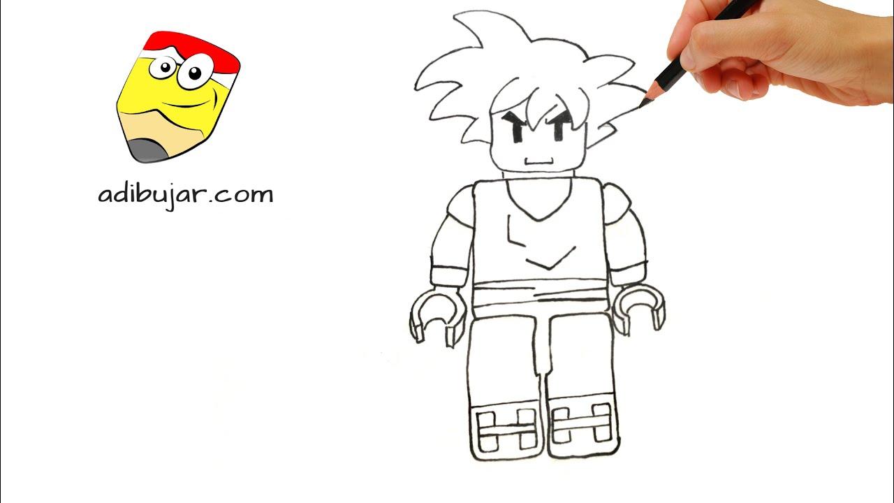 Como Dibujar A Gogeta Lego How Yo Draw Gogeta Lego By
