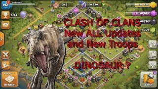 Clash of Clans All New Updates in new winter season December 2018! is that dinosaur?
