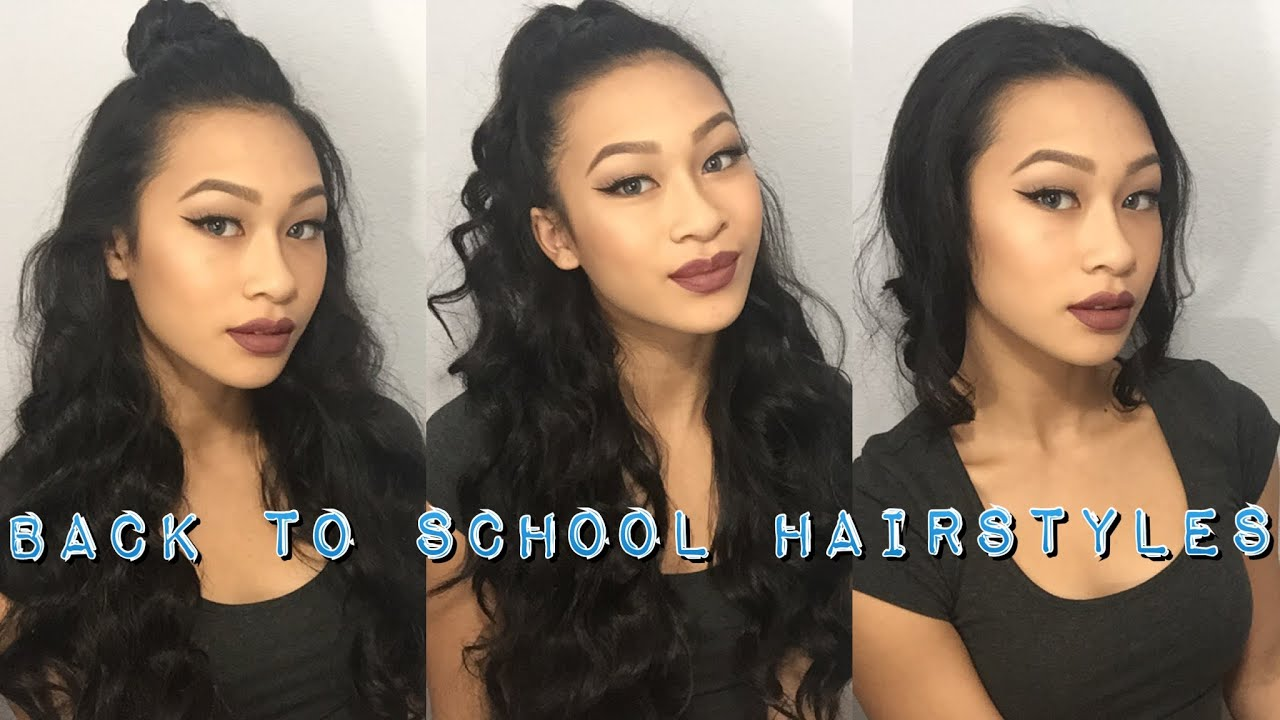 3 back to school hairstyles (using only 1 hair tie) || thatssoyin