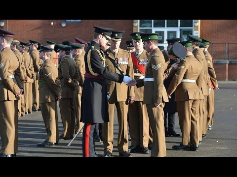 Royal Approval for 1 Irish Guards 06.12.13
